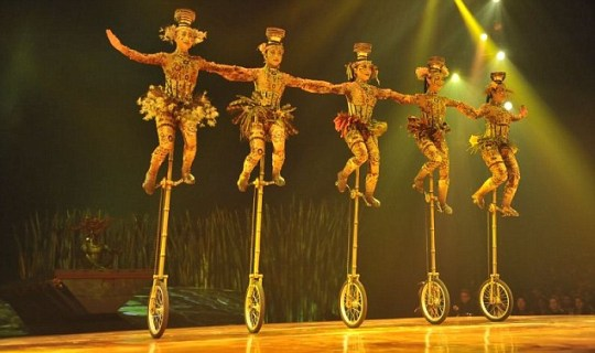 Totem, the latest Cirque du Soleil show, is being performed at the Royal Albert Hall