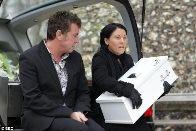 Kat and Alfie Moon bury baby 'Tommy' - unaware it's actually baby James