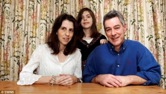 Green: Richard and Rachelle Strauss with daughter Verona, ten