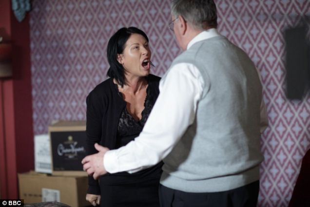 EastEnders Kat Moon and dad Charlie Slater have a heart-to-heart