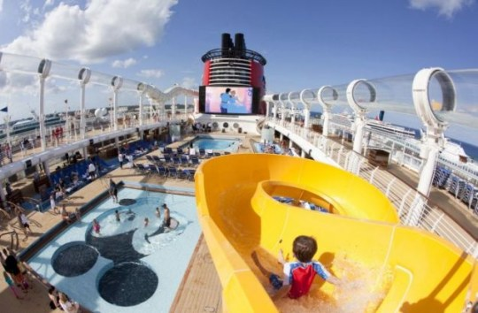 Ship shape: Disney Dream has a thrilling water coaster (Picture: Jimmy DeFlippo)