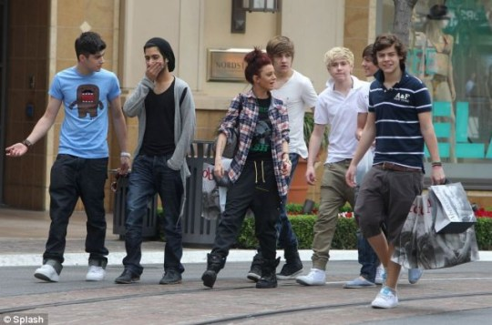 The One Direction lads join Cher Lloyd in Los Angeles where they are said to be working on their debut album