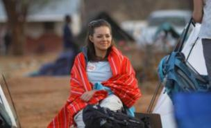 Kara Tointon is among the celebrities trekking the Kaisut desert for Comic Relief (Timothy Allen/Comic Relief/PA Wire)