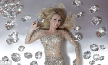 Amanda Holden glistens like Britney Spears for EuroMillions jackpot shoot