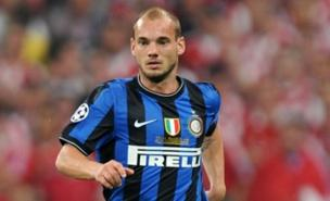 Wesley Sneijder could soon be pulling on the red of Manchester United. (PA)