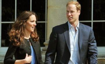 William and Kate leave Buckingham Palace by helicopter