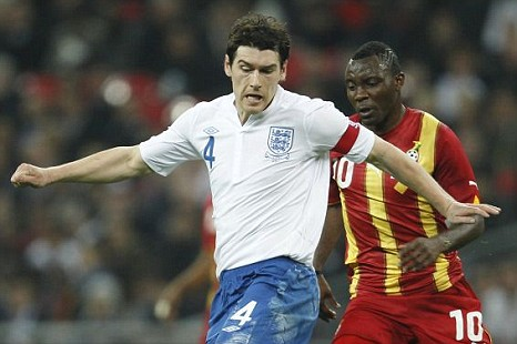 Leading man: Gareth Barry captained England against Ghana