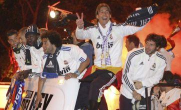 Sergio Ramos drops Copa del Rey during Real Madrid bus ...
