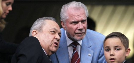 West Ham co-owners David Sullivan (left) and David Gold both skipped the game at City (Action)