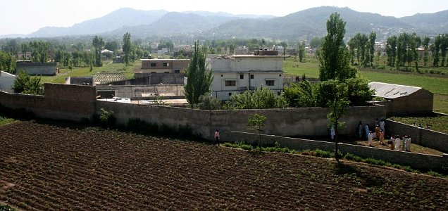 A view of Osama bin Laden's compound in Abbottabad, Pakistan (AP)