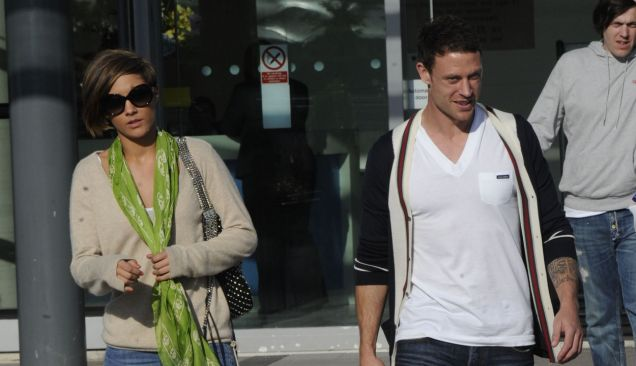 Frankie Sandford with boyfriend Wayne Bridge (Xposure)
