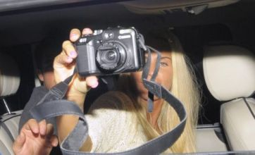 Katie Price paps the paparazzi on night out with Leandro Penna