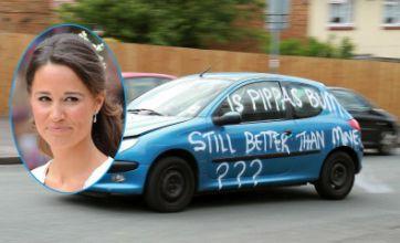 Pippa Middleton bottom rage as scorned woman takes revenge on car
