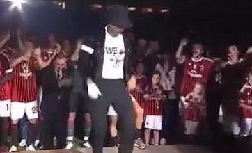 Kevin-Prince Boateng moonwalks for AC Milan fans following title win