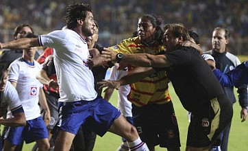 Mexican game descends into mass brawl after one fan's pitch invasion