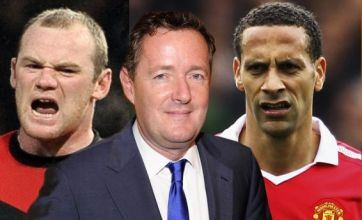 Wayne Rooney and Rio Ferdinand in angry Twitter rant at Piers Morgan
