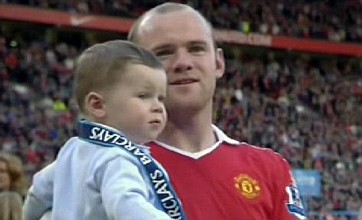 Wayne Rooney's baby son Kai misses sitter during Old Trafford celebrations