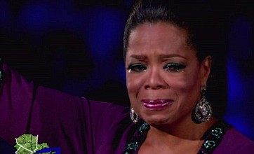 Oprah bids a tearful farewell to her viewers as her final show is broadcast
