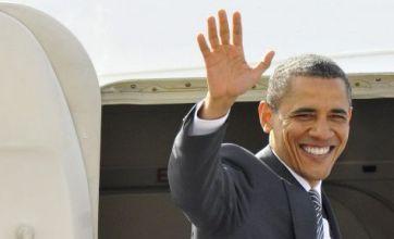Barack Obama bids fond farewell to UK, but G8 protest storm awaits