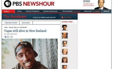 Tupac 'still alive' hoax posted on PBS website by hackers