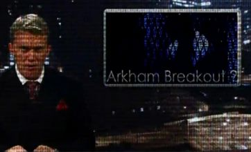 The Dark Knight Rises viral videos released showing Gotham City on fire
