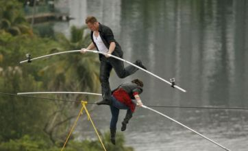 Fatal high wire stunt reconstructed by mother and son