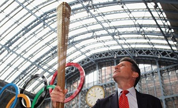London 2012 Olympics: Golden torch unveiled ahead of 70-day relay