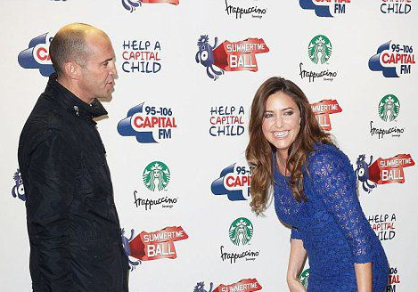 Johnny Vaughan and Lisa Snowdon at the Capital Radio Summmertime Ball