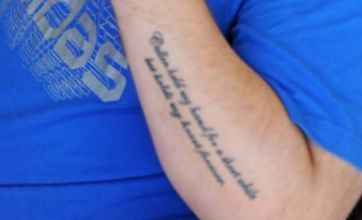 Man gets dead grandmother's ashes tattoed on his arm