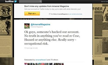 'Cesc Fabregas joins Barcelona' hoax by Arsenal Magazine Twitter hackers