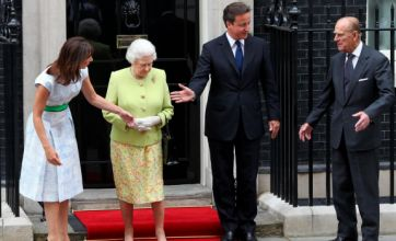 David and Sam Cameron help put the Queen and Prince Philip in their place