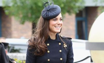 Kate Middleton in slimline military look at Irish Guards Medal ceremony