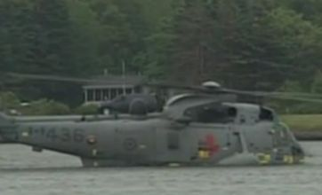 Watch: Prince William faultlessly 'waterbirds' helicopter in Canada