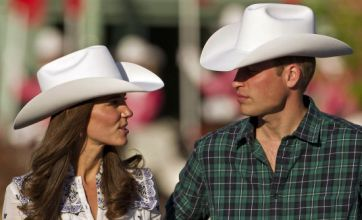 Prince William and Kate Middleton get ten-gallon cowboy hats in Calgary