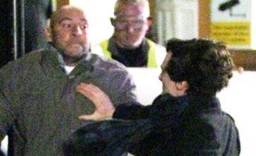 Benedict Cumberbatch in punch up in new Sherlock Holmes series 2 scenes