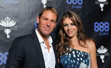 Elizabeth Hurley denies rumours Shane Warne wears make-up