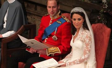 Kate Middleton's Sarah Burton dress goes on display in Buckingham Palace