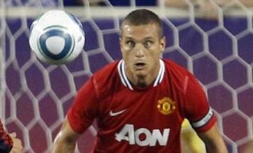Nemanja Vidic can't keep his eyes off David Beckham's All-Star balls