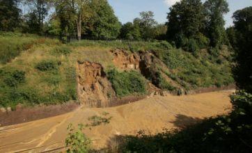 South Croydon mudslide causes train chaos