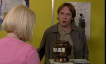 EastEnders: Ian Beale introduces his late wife – an urn full of cigarette ash