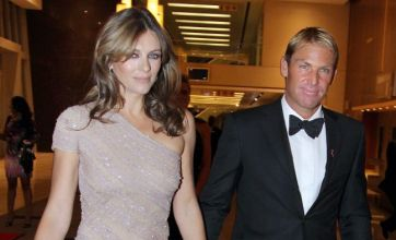 Shane Warne 'addicted' to diet shake as Liz Hurley jokes about weight loss