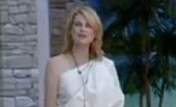 Celebrity Big Brother: Sally Bercow strips down to a bed sheet yet again