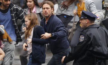 Brad Pitt flees in terror as World War Z shoot in Glasgow invaded by US army