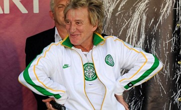 Rod Stewart sports Celtic attire to launch two-year Vegas residency