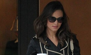 Pippa Middleton resorts to shades and coffee after a night on the town