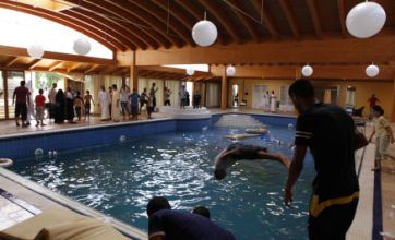 Libya rebels frolic in pool at home of Col Gaddafi's daughter in Tripoli
