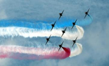 Red Arrows perform first display since Flt Lt Jon Egging's death