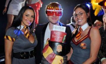 Rupert Grint parties with saucy Hogwarts girls at birthday bash