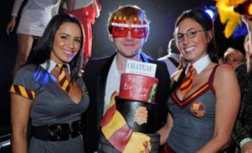 Rupert Grint parties with saucy Hogwarts girls at birthday bash