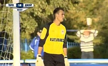 FC Torpedo Zhodino goalkeeper Artem Gomelko has 'cool-guy moment' fail